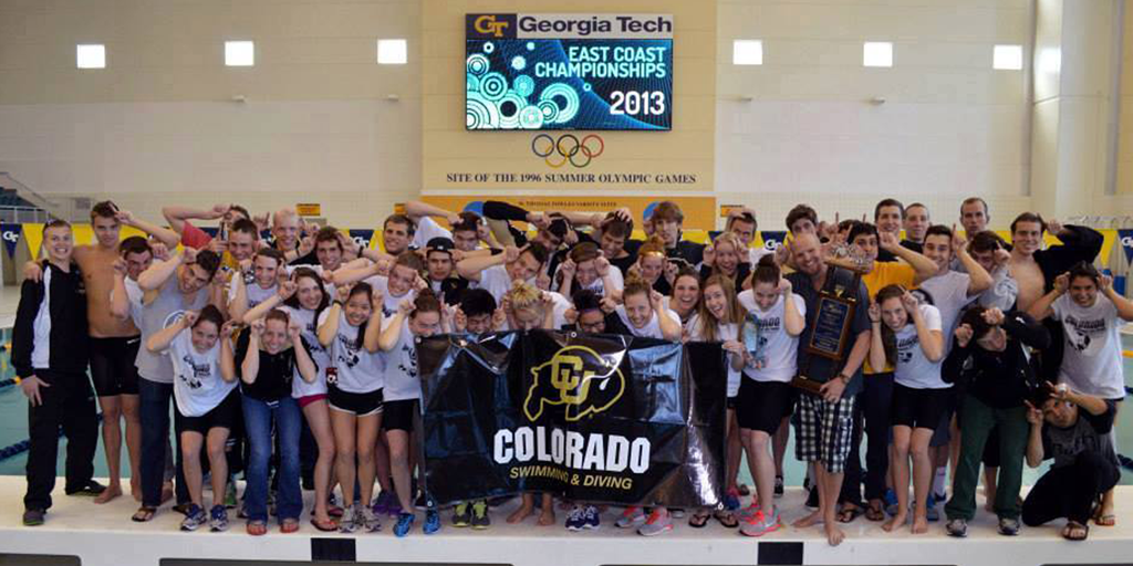 CU Swim Team at ECCs