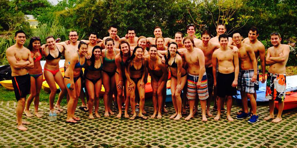 CU Swim Team during Training Trip